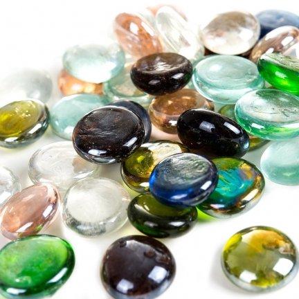 Kamienie Dekoracyjne Płaskie Przezroczyste Mix [Komplet - 10 Woreczków]