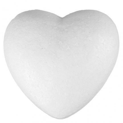 Serce Styropianowe Duże 12cm  [Komplet - 40 sztuk]