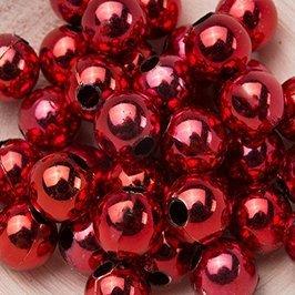 Koraliki Perełki 8mm 10g Kolor Czerwony Multi 04 [ Zestaw - 50 Kompletów]