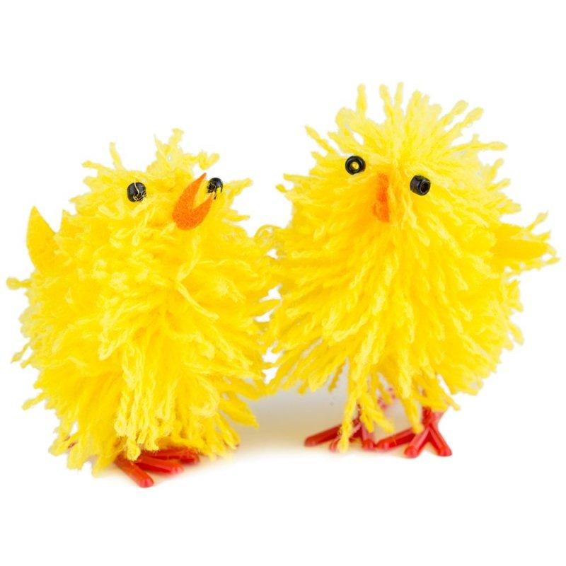 Kurczak z Włóczki 4,5cm [Komplet - 36sztuki]