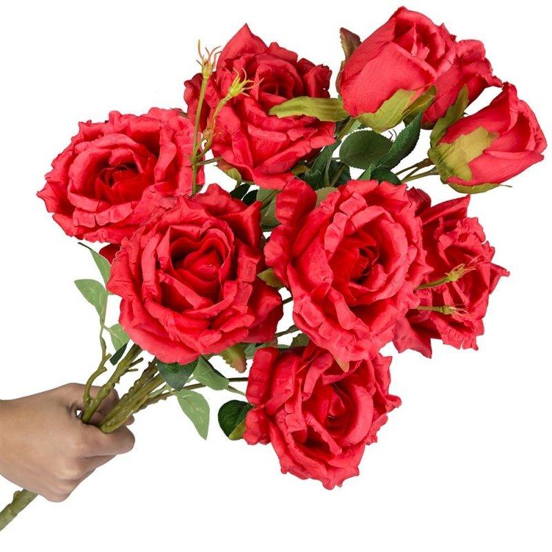 Bukiet Róże Czerwone [Komplet 2szt]