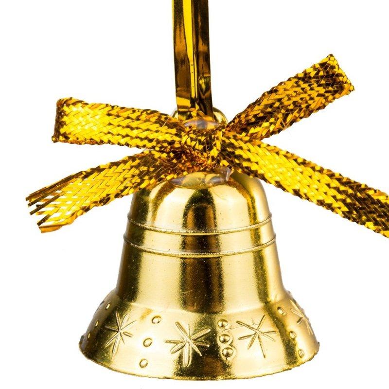 Dzwoneczki Złote ze Złotą Kokardą 12szt [Komplet 10szt]