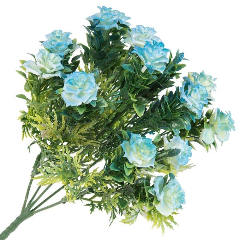Gałązka Dekoracyjna Niebieskie Róże