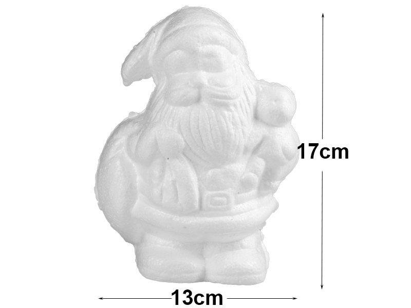 Mikołaj Styropianowy z Misiem 17cm [Komplet - 20 sztuk]