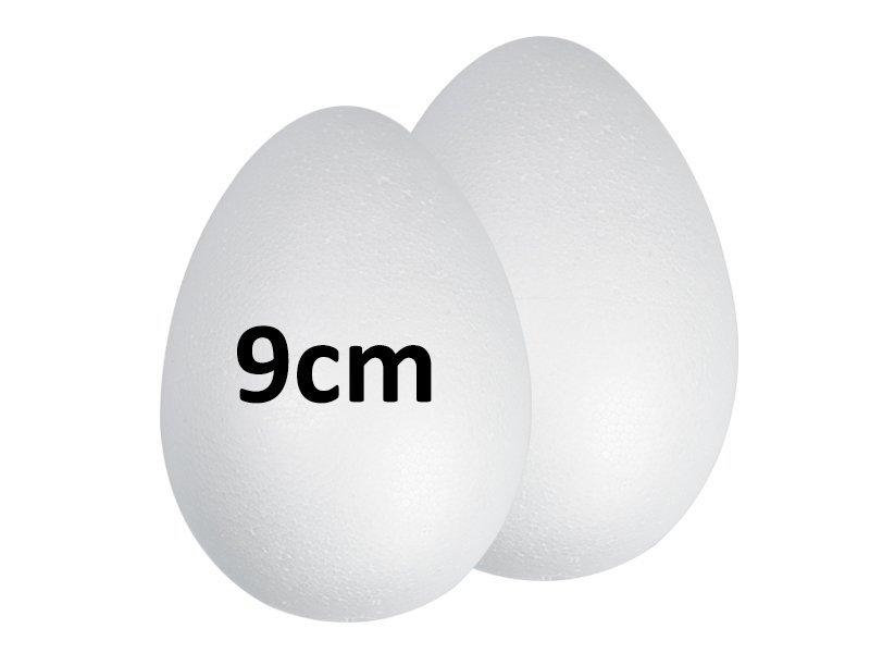 Jajka Styropianowe 9cm [Komplet-Zestaw 100szt]