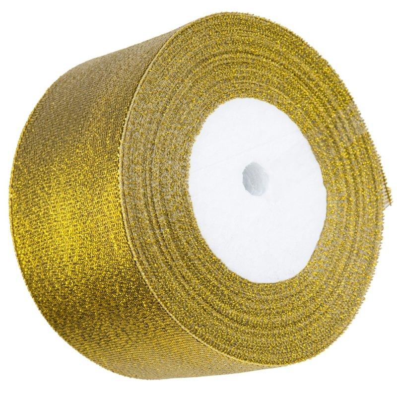 Tasiemka Brokatowa 50mm Złota [Komplet 4 sztuki]