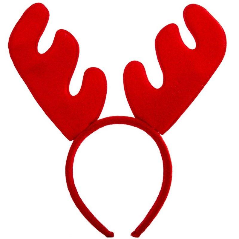 Opaska Świąteczna Renifer Czerwony [Komplet 12szt]