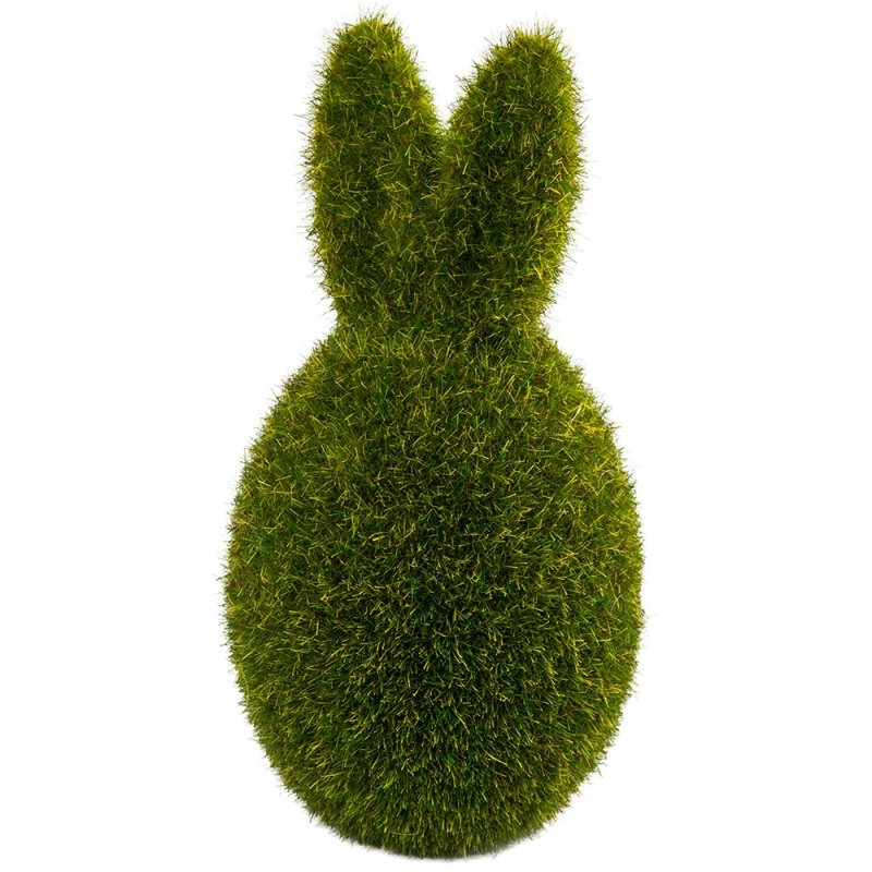 Jajko Z Uszami Flokowane Zielone 13cm [ Komplet 2 sztuki ]