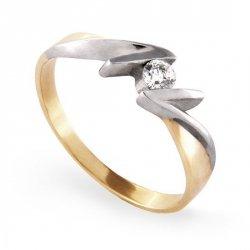 ARTES-Pierścionek złoty zaręczynowy A-67/375