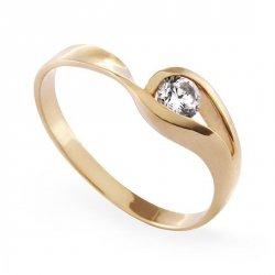 ARTES-Pierścionek złoty zaręczynowy A-79/375