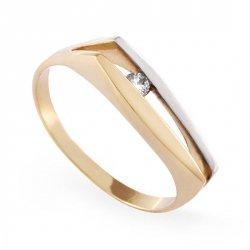 ARTES-Pierścionek złoty zaręczynowy A-80/375