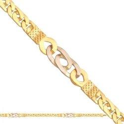 Łańcuszek złoty 585 - Lm007
