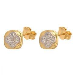 Złote kolczyki 585 - 32212