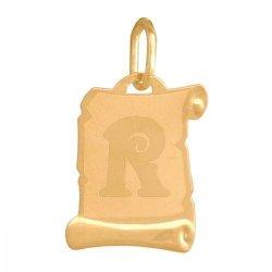 Zawieszka złota 585 litera, literka R -  Lv02r