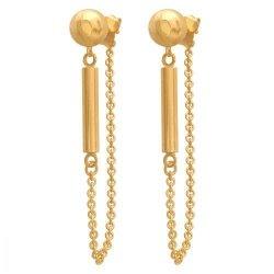 Złote kolczyki 585 - Kolczyki złote 585 sztyft - 38130