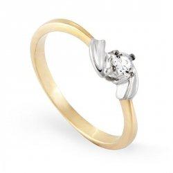 ARTES-Pierścionek złoty zaręczynowy A-93/375