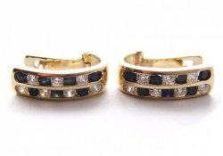Kolczyki złote 585 na klapkę, zatrzaskowe - ARTES-Kolczyki złote 324 PR. 585