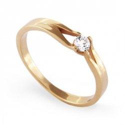 ARTES-Pierścionek złoty zaręczynowy A-9/375