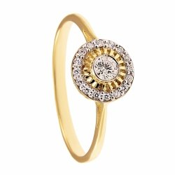 ARTES- Pierścionek złoty zaręczynowy 619/375