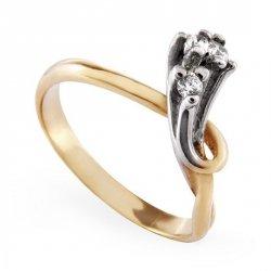 ARTES-Pierścionek złoty zaręczynowy A-63/375