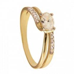 ARTES-Pierścionek złoty zaręczynowy 583/375
