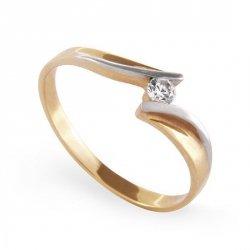 ARTES-Pierścionek złoty zaręczynowy A-60/ 375
