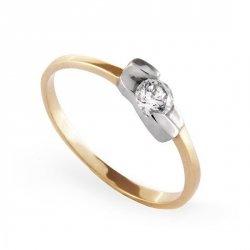 ARTES-Pierścionek złoty zaręczynowy A-30/375