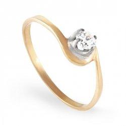 ARTES-Pierścionek złoty zaręczynowy A-103/375