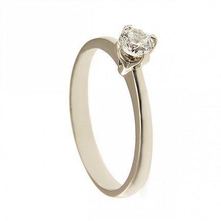 Pierscionek złoty zaręczynowy 24H PROMOCJA! białe złoto BC-83 PR. 375