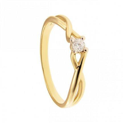 ARTES-Pierścionek złoty zaręczynowy BC-120/375
