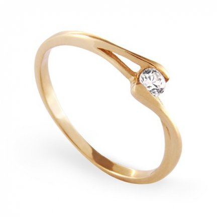 ARTES-Pierścionek złoty zaręczynowy A-44/375