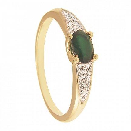 ARTES-pierścionek złoty z agatem 666/375