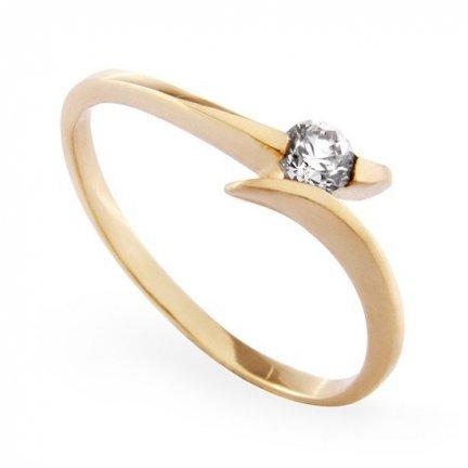 ARTES-Pierścionek złoty zaręczynowy A-73/375