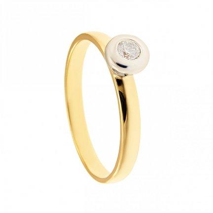 ARTES-Pierścionek złoty zaręczynowy BC-141 PR. 375