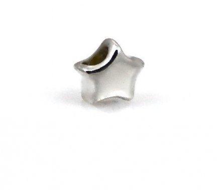 Zawieszka modułowa koralik charms srebro 925 gwiazdka