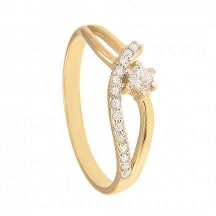 ARTES- Pierścionek złoty zaręczynowy 688/375