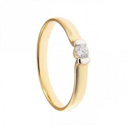 ARTES-Pierścionek złoty zaręczynowy BC-119 PR. 375
