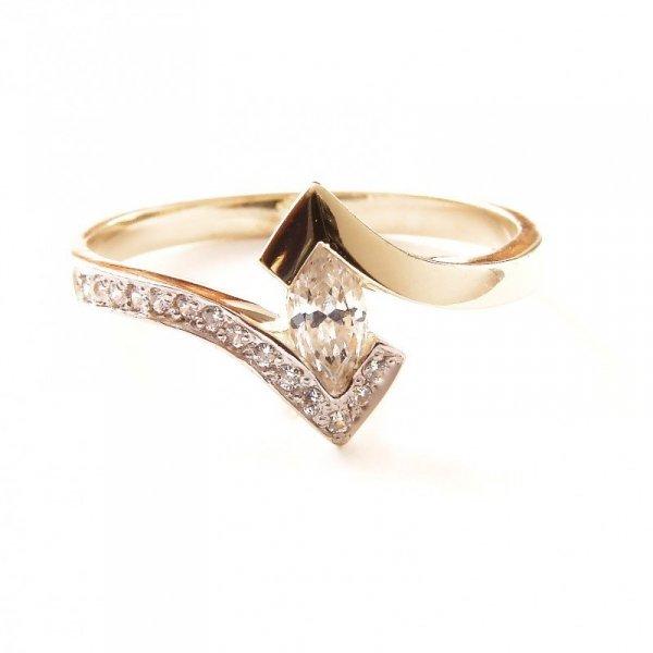 ARTES-Pierścionek złoty zaręczynowy 585 PROMOCJA! 24H