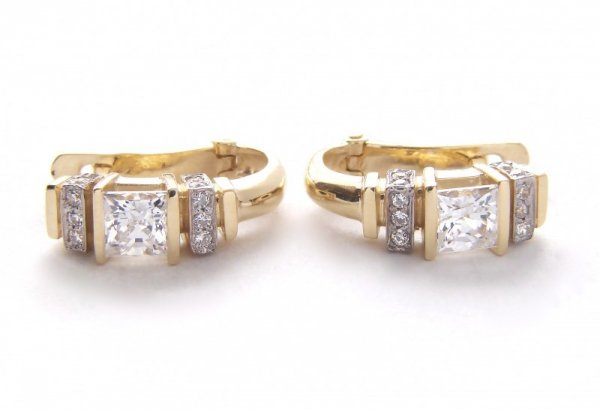 Kolczyki złote 585 na klapkę, zatrzaskowe - ARTES-Kolczyki złote 467 PR. 585