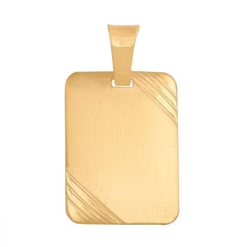 Zawieszka złota 585 blaszka do grawerowania - 21951