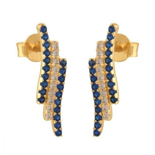 Kolczyki złote 585 sztyft - 27476