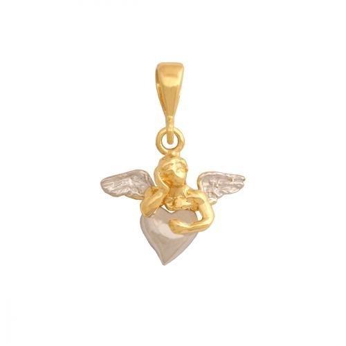Zawieszka złota 585 Aniołek, Amorek -  29372
