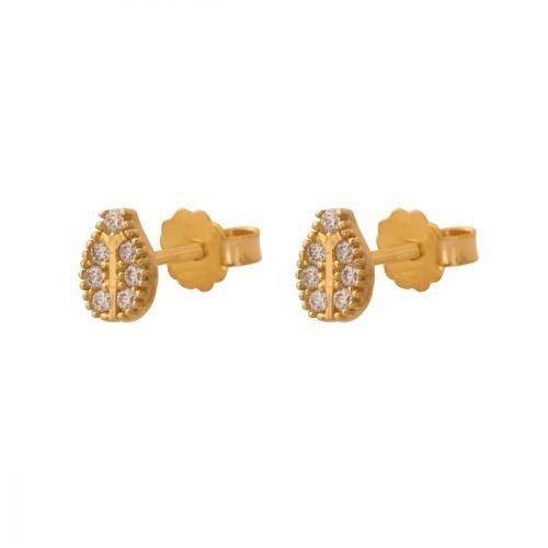 Kolczyki złote 585 sztyft - 35819