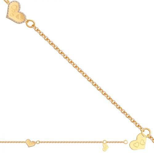 Bransoletka złota, dziecięca dla dzieci 585 - 37170