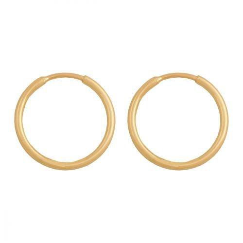 Kolczyki złote 585 koła - 39192