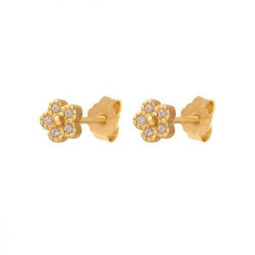 Kolczyki złote 585 sztyft - 40496