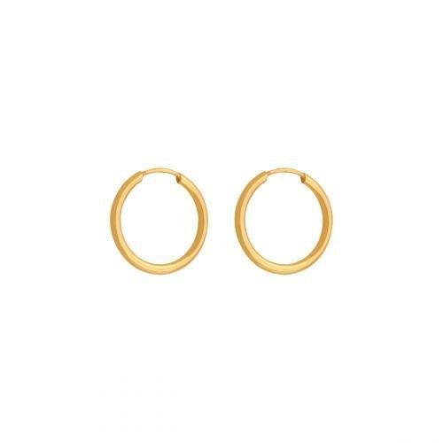 Kolczyki złote 585 koła - 41874