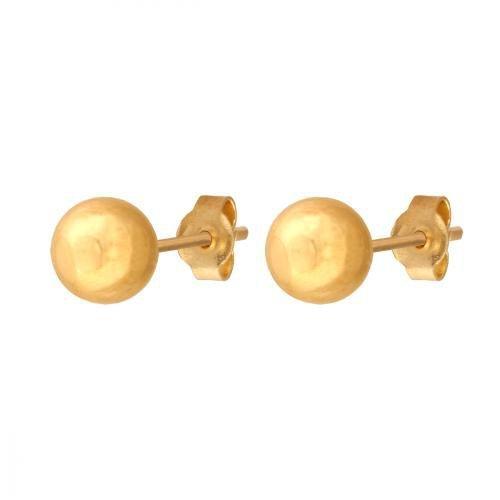 Złote kolczyki 585 - Kolczyki złote 585 sztyft - 42673