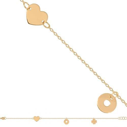 Bransoletka złota, damska 585 - Br104