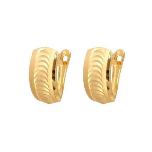 Kolczyki złote 585 na klapkę, zatrzaskowe - 47273